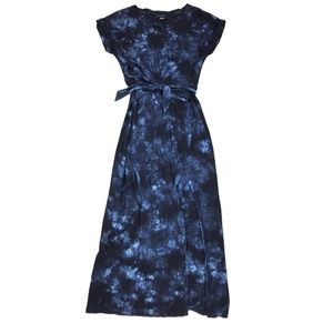 Sanctuary Tie Dye Belted Isle T-Shirt Maxi Dress